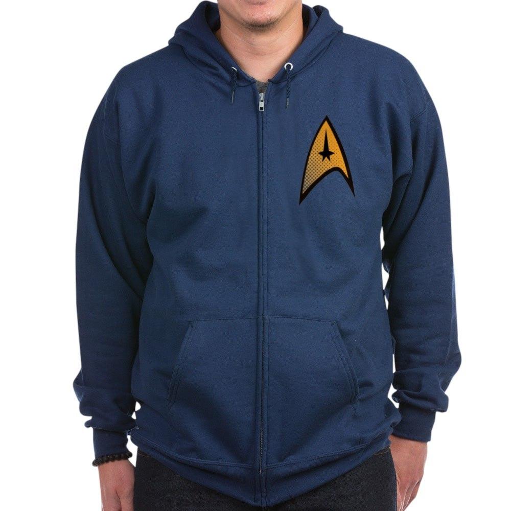 Star Trek Uniform Command Insignia Halftone Zip Ho Zip Hoodie CafePress