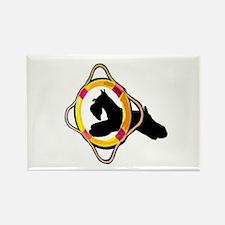 Schnauzer Dog Agility Rectangle Magnet
