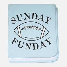 Sunday Funday baby blanket