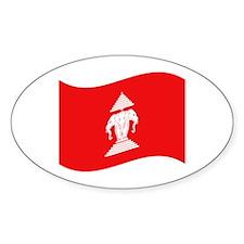 Laos Lao Erawan Flag Wave Decal