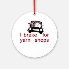 Brake for yarn shops Ornament (Round)