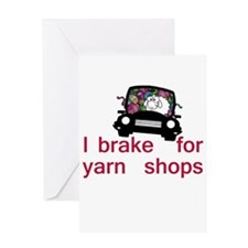 Brake for yarn shops Greeting Card