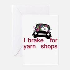 Brake for yarn shops Greeting Cards (Pk of 10)