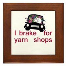 Brake for yarn shops Framed Tile