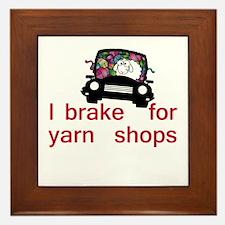 Brake for yarn shops Framed Tile