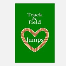 Track and Field Love Jumps Postcards (Package of 8