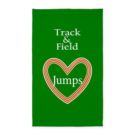 Track and Field Love Jumps 3'x5' Area Rug