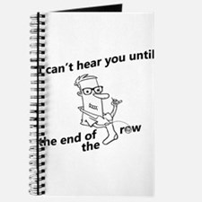until the end of the row Journal