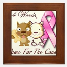 Paws For The Cause Framed Tile