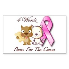 Paws For The Cause Decal