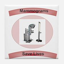 Mammograms Save Lives Tile Coaster