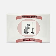 Mammograms Save Lives Rectangle Magnet