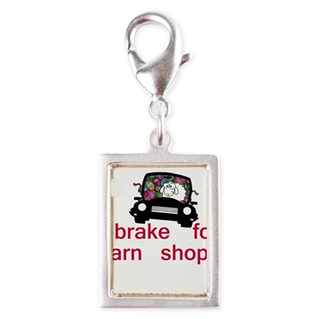 Brake for yarn shops Silver Portrait Charm