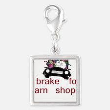 Brake for yarn shops Silver Square Charm
