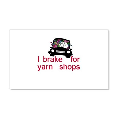 Brake for yarn shops Car Magnet 20 x 12