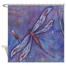 Purple Dragonfly Shower Curtain