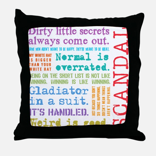 Scandal [multicolor] Throw Pillow