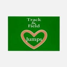 Track and Field Love Jumps Rectangle Magnet