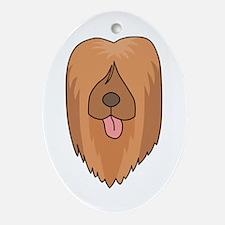 Briard Dog. Ornament (Oval)
