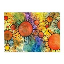 Primordial Suns 2 5'x7'Area Rug