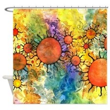 Primordial Suns 2 Shower Curtain