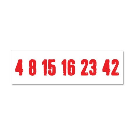 [Red] Lost Numbers Car Magnet 10 x 3