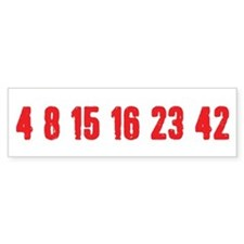 [Red] Lost Numbers Car Sticker