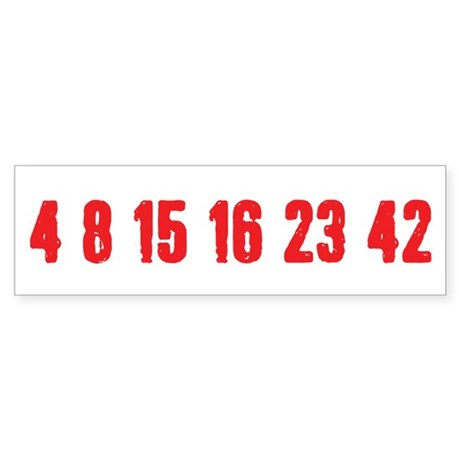 [Red] Lost Numbers Sticker (Bumper)