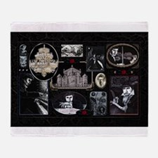 Phantom Phantasia Collage Throw Blanket