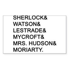 Sherlock Names Decal
