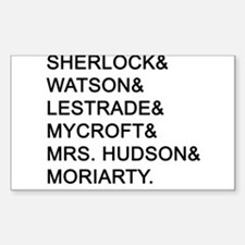 Sherlock Names Decal