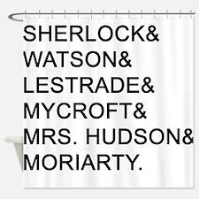 Sherlock Names Shower Curtain