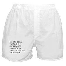 Sherlock Names Boxer Shorts