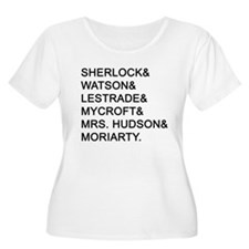 Sherlock Names Plus Size T-Shirt