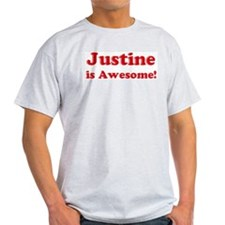 Justine is Awesome Ash Grey T-Shirt