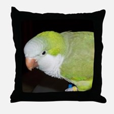 Quaker Parrot Throw Pillow