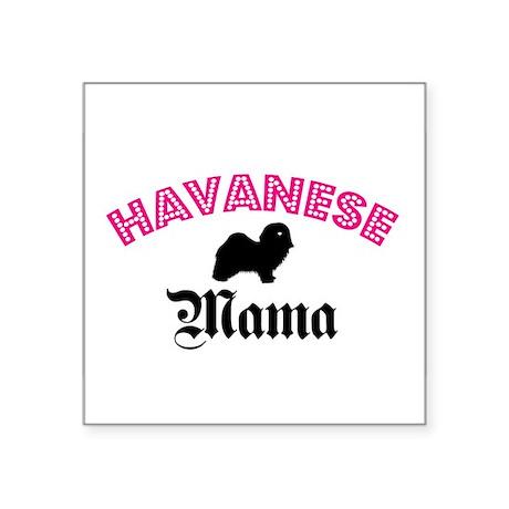Havanese Mama Oval Sticker