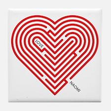 I Love Naomi Tile Coaster