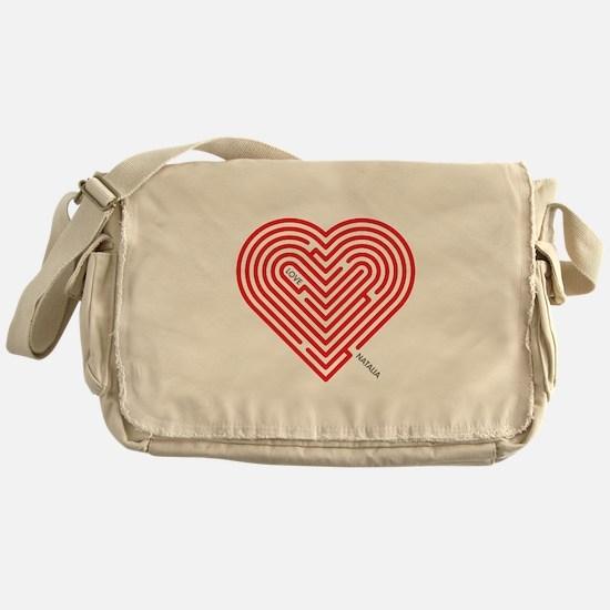 I Love Natalia Messenger Bag