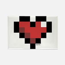 Pixel Heart Rectangle Magnet