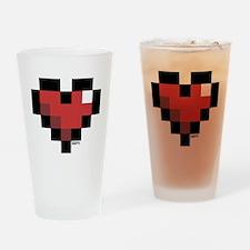 Pixel Heart Drinking Glass