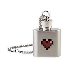Pixel Heart Flask Necklace