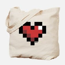 Pixel Heart Tote Bag