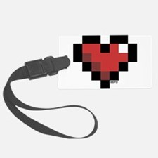 Pixel Heart Luggage Tag