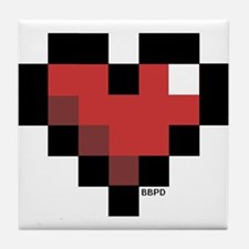 Pixel Heart Tile Coaster