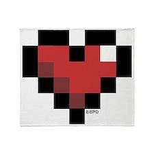 Pixel Heart Throw Blanket