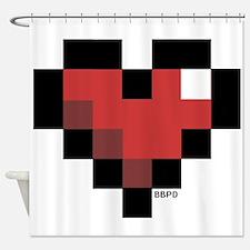 Pixel Heart Shower Curtain