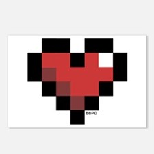 Pixel Heart Postcards (Package of 8)