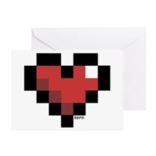 Pixel Heart Greeting Card