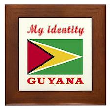 My Identity Guyana Framed Tile